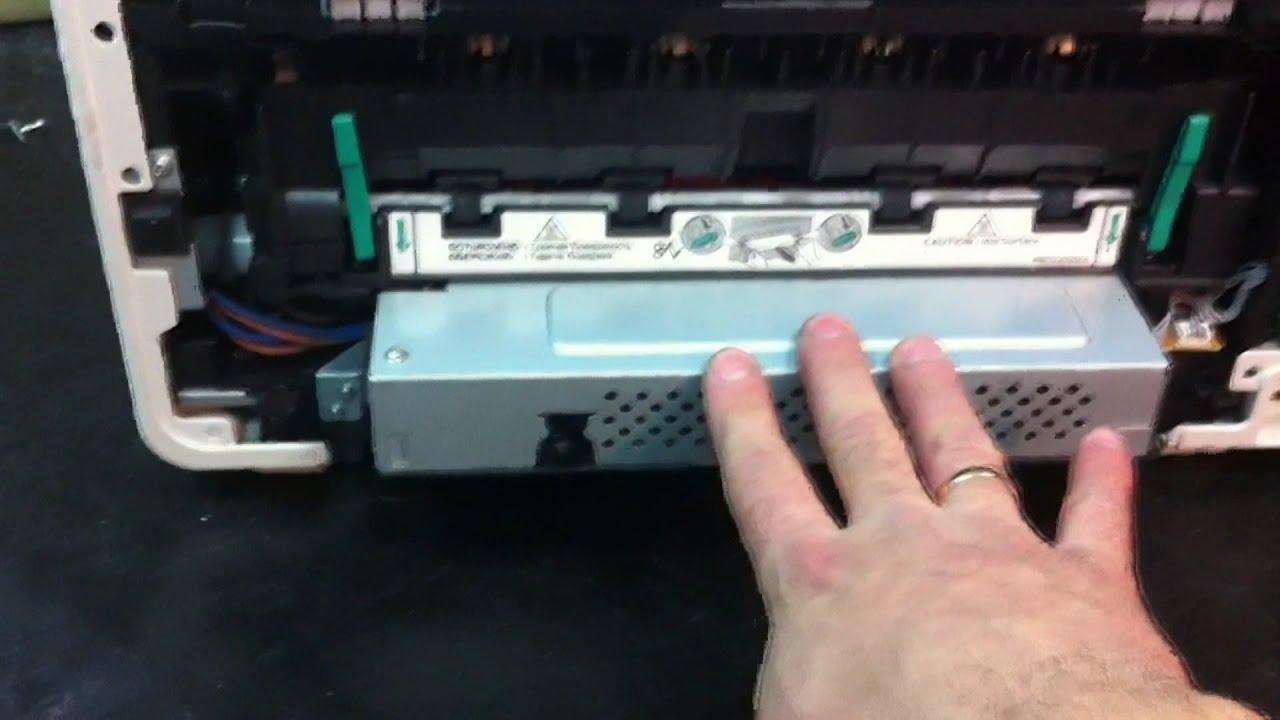 Panasonic KX-MB1500 печь, ремонт - YouTube