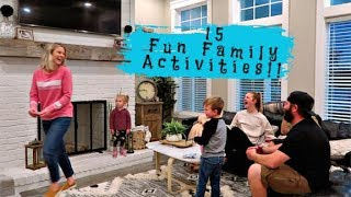 15 Fun Family Activities!!