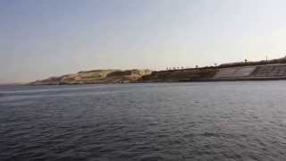 stunning scenery was carried out by the Egyptian army in the Suez Canal, the Great New