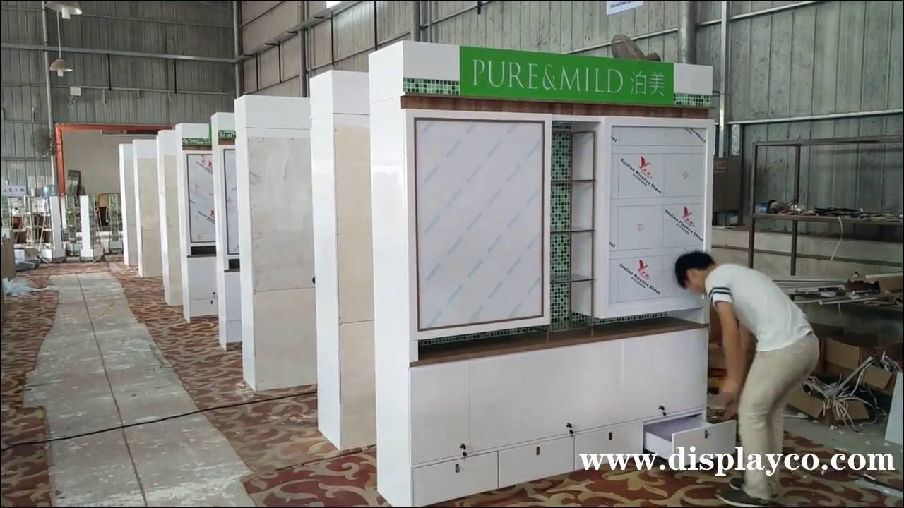 Cosmetic Exhibition Stand Design : Cosmetic display stand showcase retail
