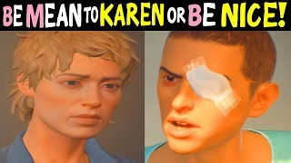 SEAN Being MEAN to KAREN Vs SEAN Being NICE with KAREN - All Outcomes - Life is Strange 2 Episode 4