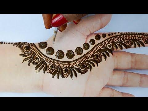ईद/राखी स्पेशल मेहँदी की ये नई डिज़ाइन देखकर आप खुश हो जायेंगे-  Arabic Henna Mehndi | Backand mehndi
