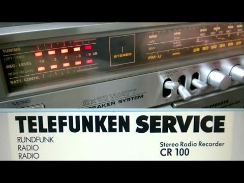 Telefunken CR-100 vintage boombox ghettoblaster from 1981