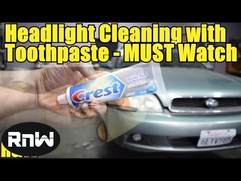 How to Clean and Clear up Old Hazy Headlights with Toothpaste
