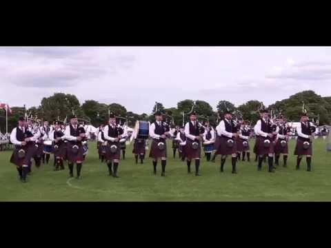 Police Scotland Fife Pipe Band at North Berwick