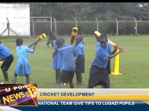 Cricketers give tips to Lugazi pupils