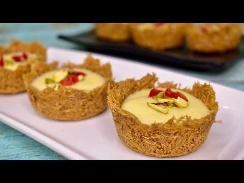 Vermicelli Dessert Recipe    Vermicelli Custard Recipe    Sevai Katori    Semai Custard Cup
