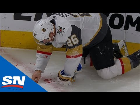 Paul Stastny Picks His Teeth Up Off The Ice After Taking Puck To Mouth