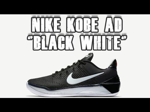nike kobe a.d. black white