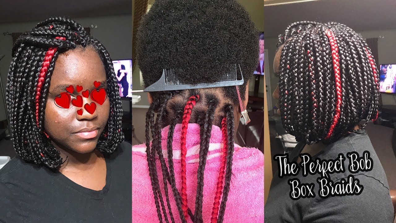 How To Do The Perfect Bob Box Braids On Very Short Hair