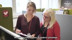 """""""Monetra on moderni, nykyaikainen työnantaja """", kertovat Stina ja Jenni."""