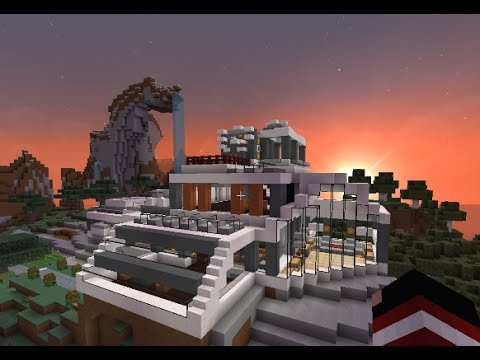 Minecraft casa moderna modern house descarga for Casa moderna 2 minecraft