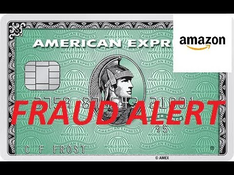 FRAUD ALERT On American Express Amazon Credit Card!