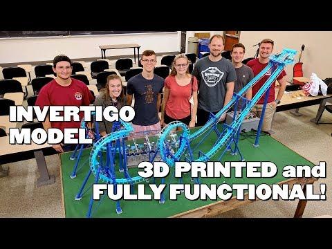 0 - 3D-gedrucktes funktionsfähiges Modell einer Achterbahn