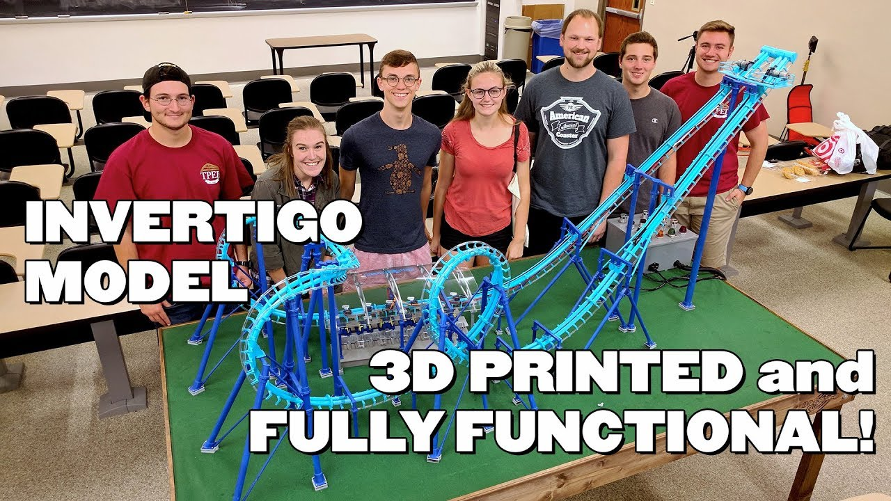3D Printed Fully Functional Roller Coaster at Purdue!