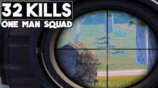 DESTROYING SQUADS | 32 KILLS Solo vs Squad | PUBG Mobile thumbnail