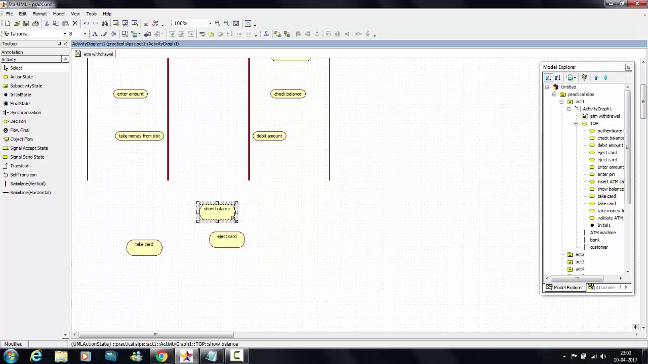 Tutorial 11 : ATM Cash Withdrawal - Activity Diagram - YouTube