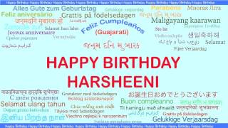 Harsheeni   Languages Idiomas - Happy Birthday