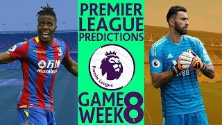 EPL Week 8 Premier League Score and Results Predictions 2018/19