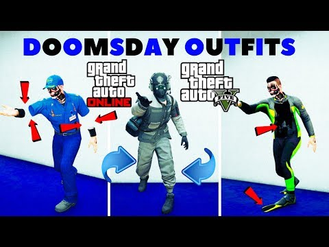 *4 MODDED OUTFITS*NEW GREY JOGGERS*PARAMEDICS INVISIBLE ARMS*SCUBA FLIPPERS*DOOMSDAY*GTA 5 ONLINE