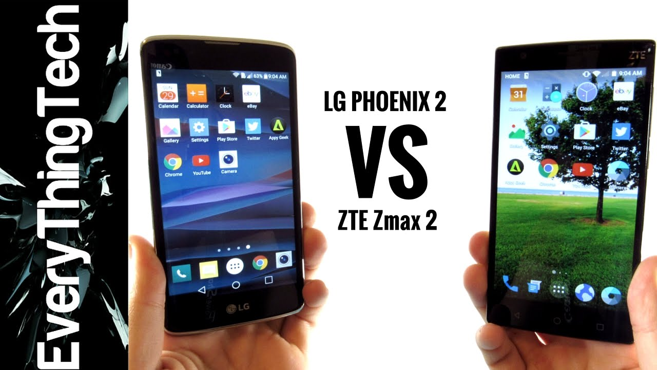 manage zte maven 2 vs lg phoenix 2 the