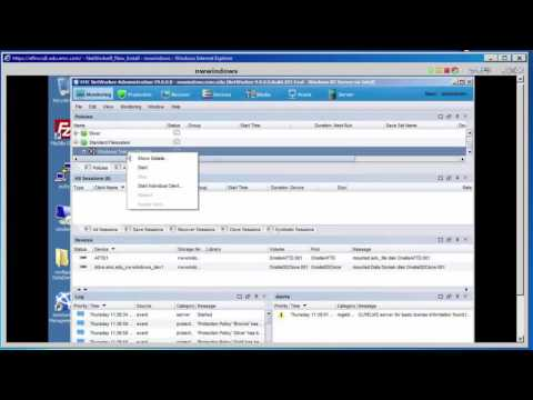 EMC Networker 9 Demonstration