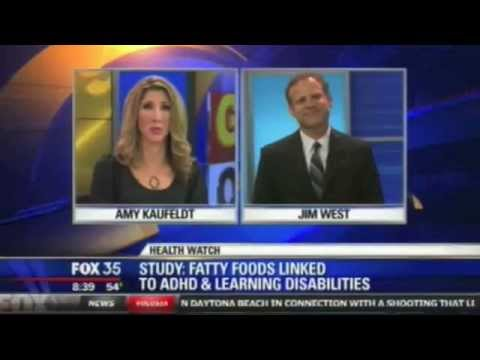 High Fat effects ADHD & Alternative Holistic Treatments | Orlando Counselor Jim West | Fox 35 Video
