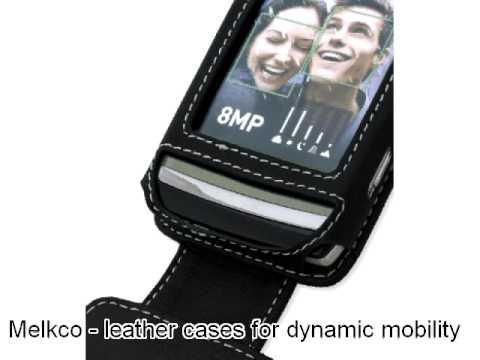 Melkco Leather Case for LG GC900 Viewty Smart - Flip Down