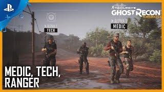 Tom Clancy's Ghost Recon Wildlands - Ghost War Classes: Medic, Tech, Ranger | PS4