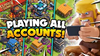 Playing 19 Clash of Clans Accounts in One Day!
