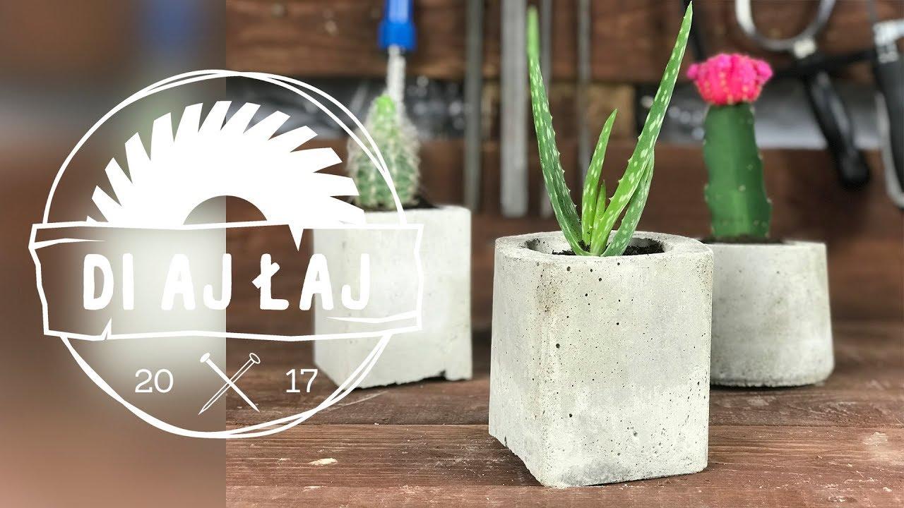 Jak Zrobić Betonowe Doniczki Diajłaj 5 How To Make Concrete Planters
