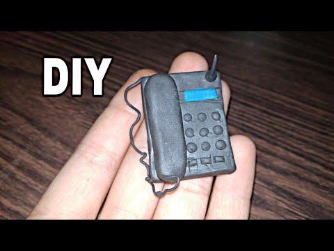 How to make miniature telephone