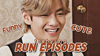 BTS V (Taehyung) Run Episodes  FUNNY  CUTE MOMENTS