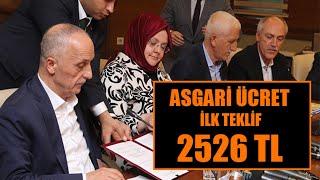 2020 Asgari Ücret Teklifi 2526 TL