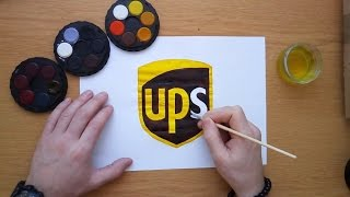 How to draw the ups logo