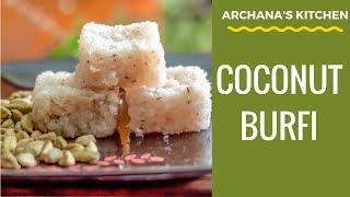Coconut Burfi With Almonds Recipe By Archana's Kitchen