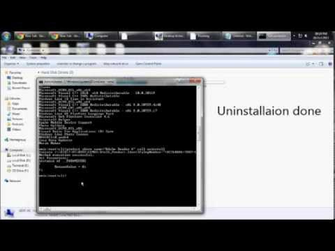 How to uninstall any programme using cmd - WMIC