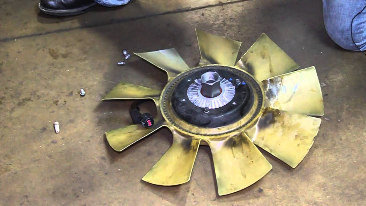 small resolution of ford 6 0 powerstroke fan clutch replacement
