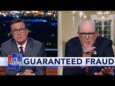 Stephen Colbert grills John Lithgow's manic, wine-guzzling Rudy Giuliani about his pile of Ukraine woes