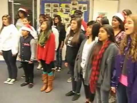Wangenheim Middle School Choir Caroling in the Office