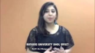 Rutgers University Dhol Effect Shout Out for World's Best Bhangra Crew 2013