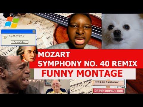 Mozart - Symphony No. 40 Remix - FUNNY MONTAGE (10K SUBSCRIBERS!)