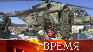В Хабаровском крае военные инженеры готовят подрыв заторов, образовавшиеся в Бурейском водохранилище