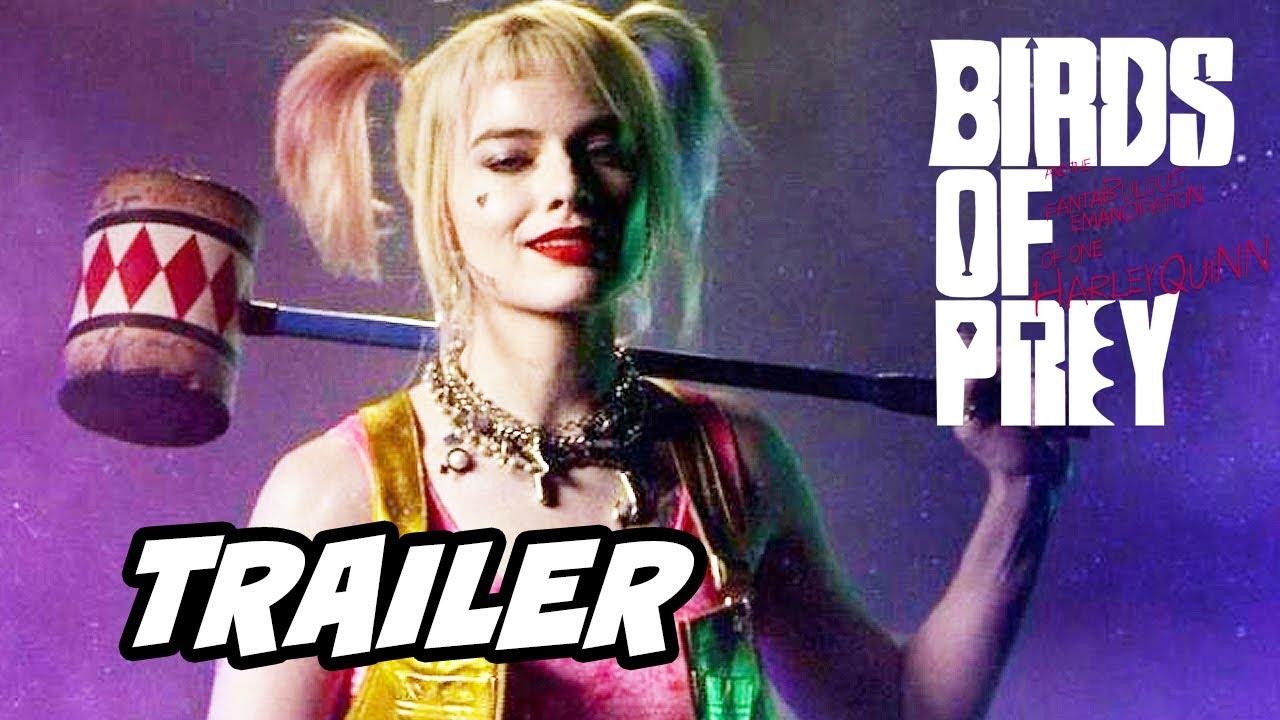 Birds Of Prey Trailer Joker And Batman Easter Eggs Breakdown Youtube