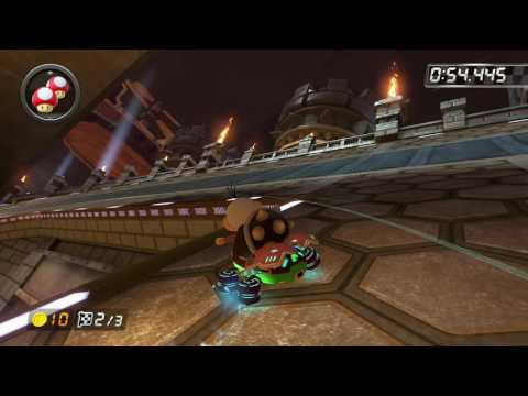 Bowser's Castle - 1:58.297 - BC is free (Mario Kart 8 World Record)