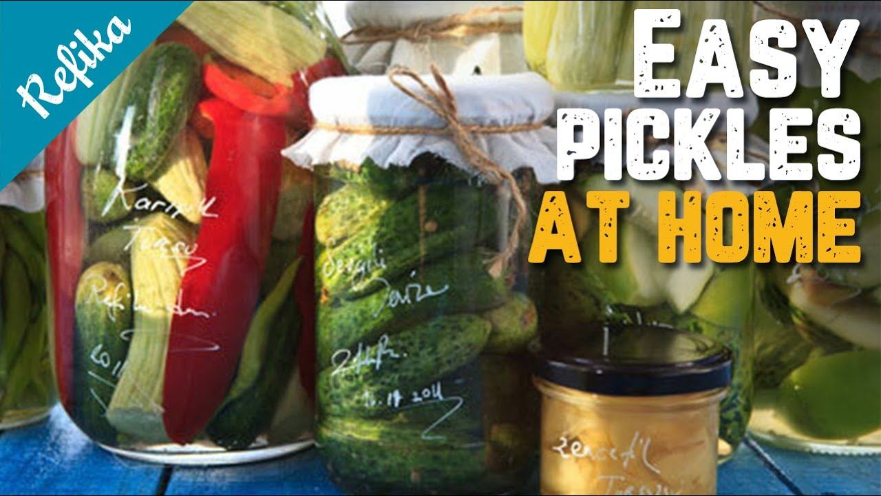 Easiest Pickle Recipe (Turkish Way) | How to Pickle Peppers, Cucumbers, Okras and Plums?