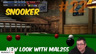 Virtual Pool 4 | Snooker #22 - New Look - Two Practise Frames with Mal255