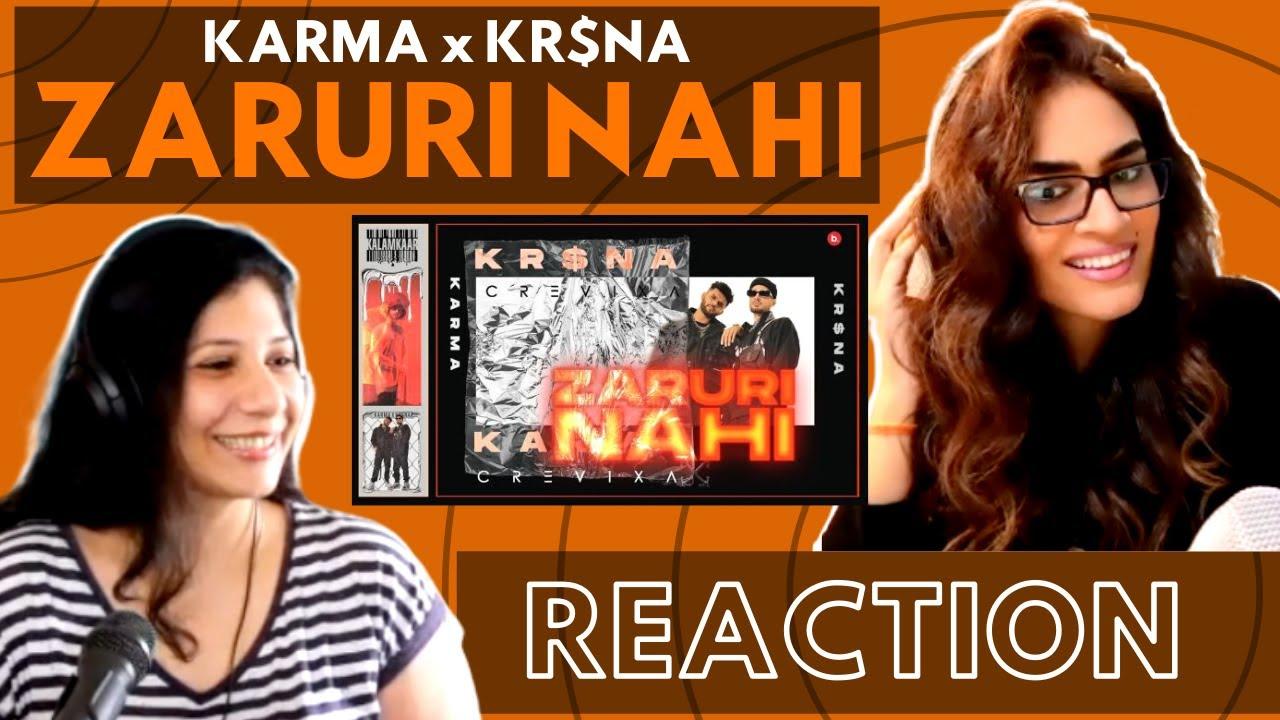 ZARURI NAHI ( @Karma The Lekhak FEAT. @KRSNA) REACTION!    M.Y.P.   @Kalamkaar
