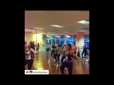 Zumba class with Lucky Zumba , Wisin , Que viva la vida choreographer Lucky Zumba