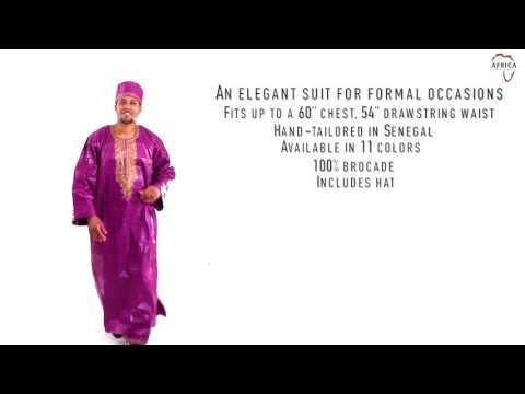 Full length brocade dashiki pant set from Africa Imports